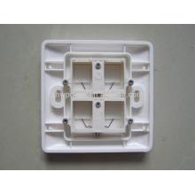 4 порта лицевая панель, Ethernet лицевая панель rj45 настенная панель, rj45 розетка настенная лицевая панель с низкой ценой