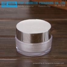 YJ-30 cor de 30g personalizável redondo lindo 1oz popular e frasco de parede dupla de luxo