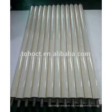 Barra de cerámica de la superficie brillante del pulimento aislante / tubo de la barra de la viga cerámica de la alúmina / del zirconia resistentes al desgaste