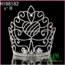 2015 Neue preiswerte große feststehende Art und Weisetiara Krone