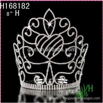 2015 New Cheap big pageant fashion tiara crown