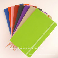 Assorted Color Quality PU Leather Agenda Planner Pocket Notebooks with Elastic Strap
