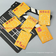 Custom Chinese Traditional Red Lucky Money Paper Pocket Envelope