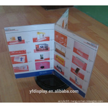 Hot Sell Acrylic Menu Rotating Display Holder