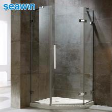 Seawin Wall Profile Price Bath Cabin Room Industrial Modern Tempered Glass Frameless Shower Door