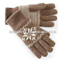 Men Acrylic Fashion Winter Warm Knitted Gloves