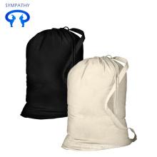 reusable portable travel canvas laundry bags cotton heavy duty eco friendly drawstring laundry bag