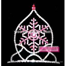 Tiara de la joyería del pelo diadema hueco del copo de nieve