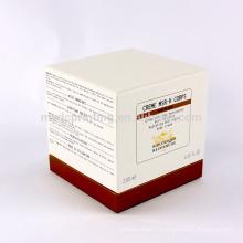 Boîte d'emballage de soins de la peau d'impression personnalisée de papier de haute qualité