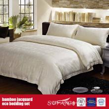 Ensemble de linge de lit Jacquard en fibre de bambou