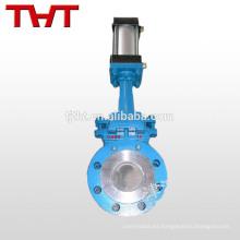 Válvula de compuerta neumática de gas de combustión caliente de la válvula de compuerta de guillotina grande