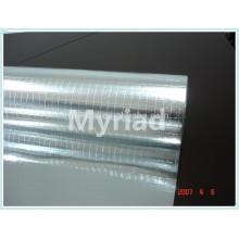 Papel de aluminio de doble cara 2-way scrim, reflectante y plata Material de material para techos Laminado de aluminio Laminado