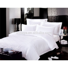 5 Star Luxury Hotel Bed Sheet Set Jacquard or Plain White 200T 300T 400T