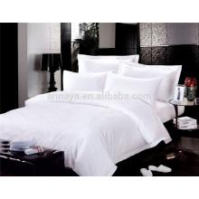 Hotel de Luxo de 5 Estrelas Conjunto de Lençóis Jacquard ou Plain White 200T 300T 400T