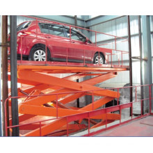 Stationary hydraulic car lifting platform, stainless steel car scissors lift