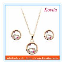 Ensemble de bijoux en forme de bijoux en forme de strass style nouveau design simple