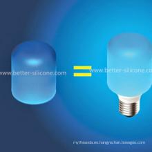 Colorido Elástico LED Silicona Bombilla Cubierta