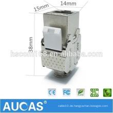 High Speed Aucas Marke 10 Gigabit Netzwerk Werkzeug-weniger geschirmt Cat6 Keystone Jack RJ45 Modul