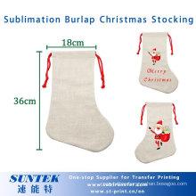 Sublimationi Christmas Socks Blank Christmas Linen Stocking