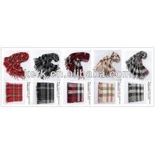 2013 Wholesale Fashion Checked 100% Wool Shawls,W3009