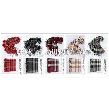 2013 moda por atacado verificado 100% lã xales, W3009