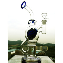 Wholesale Newest Portable Glass Pipe, Small Recycler Water Glass Pipe