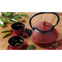 Wholesale inner enamel cast iron kettle set with cups