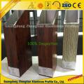 Perfil de alumínio do quadro da grão de madeira para a decoração da janela e da porta