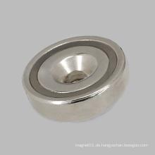 Nickel beschichtete runde Basis Maget mit Senkbohrung