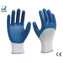 13G Нитриловый полиэстер с нитрилом 3/4 с покрытием рабочие перчатки безопасности (N6040)