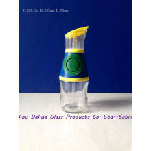Beaked Clear Glass Oil Bottles with Plastic Lid