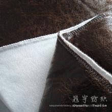 Couro do poliéster tecido 100% poliéster para o sofá