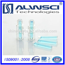 Inserção de vidro de base plana de 6mm para o frasco para extrusão automática