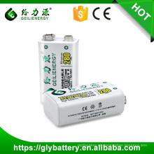 Batería recargable de 23F6-220 NIMH 9V 280mAh para el micrófono recargable