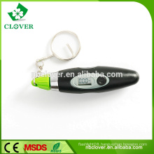 Pen shape digital wireless tire pressure gauge with keyring
