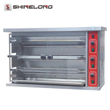 Quality Stainless Steel Gas Rotisserie With CE Capacity 3-Layer Gas Rotisserie For Chickens