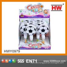 Novas idéias do presente promocional Mini brinquedo de plástico do futebol com doces