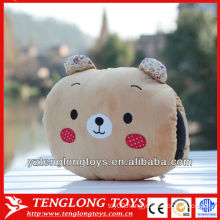 2014 new type cute and soft bear plush hand warm pillow
