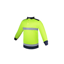 Safety work cargo shirt with reflective straps