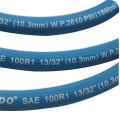 Duas tranças de aço de alta elasticidade mangueira trançada de aço inoxidável mangueira de borracha sintética