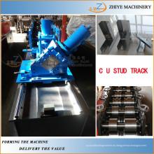 Marco ligero del acero de la medida que forma la máquina / el perno prisionero de acero y la pista máquina de perfilado fría