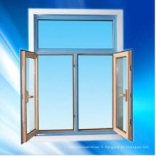 Ouverture de fenêtre à battants en aluminium