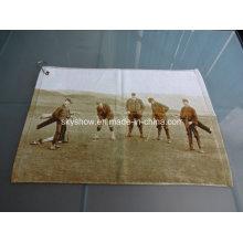 Toalla de golf impresa reactiva de encargo del algodón 100% (SST1012)