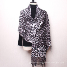 New Arrived Winter Animal Stripe Pattern Design Cashmere Shawls Muslim Hijab Women Tassel Pashmina Scarf