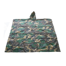 Poncho militaire de Woodland Camo en nylon