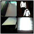 tecido reflexivo de algodão prata cinza alta luz stretch tecido reflexo