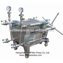 Leo Filter Press Edelstahlplattenfilterpresse