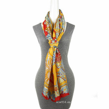 Bufanda grande de la bufanda del tamaño de la gasa de la impresión de la manera