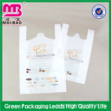 Advanced equipment made fast food package plastic t shirt bags cheap price factory wholesale