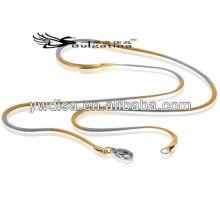 Mais recente Vinda Snake Chain cadeia de aço inoxidável colar grossa para homens jóias